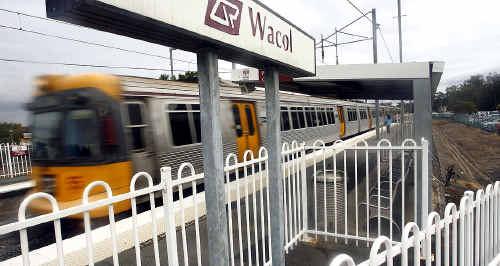 Wacol railway station on Queensland Rail's Ipswich line.