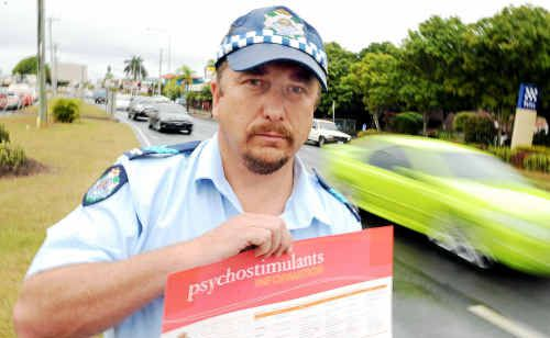 Sergeant Marty Arnold says no to drug-driving as a specialist drug-testing squad is about to arrive in Bundaberg.
