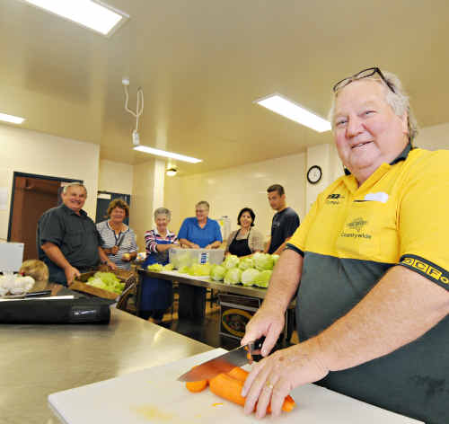 Feeding the multitude: Charlie Horne and Lions Club supporters get ready to provide dinner and breakfast to Variety Bash participants.