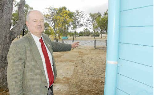 Banana Shire Mayor John Hooper at the council's subdivision site which includes the old Biloela State Pre-School.
