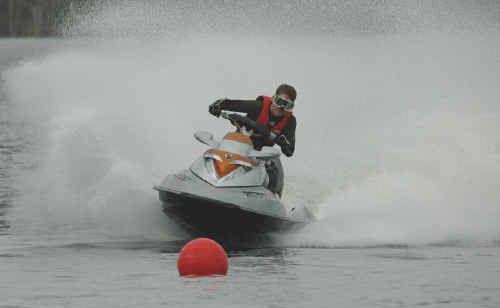 Central Queensland Personal Watercraft Club Jet Ski race day winner Mitch Upton.