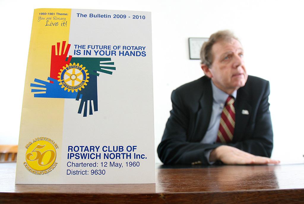 Rotary Club of Ipswich North president Les Thornton.