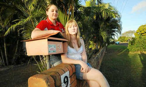 University students Sarah Prichard and Monique Jensen spent eight weeks looking for rental accomodation in Bundaberg.