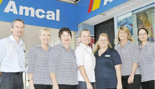 BUSINESS AWARDS: Amcal Gladstone Family Chemist staff Damian Messer, Lynne Ayscough, Irene Kozloff, Vicki Langdon, Karen Redgrave and Lisa Hughes.