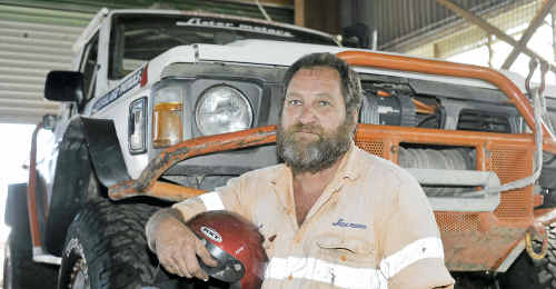 WINCHIN' AFFAIR: Anthony Dow gets ready for today's Winch Truck Challenge eight-hour Enduro.
