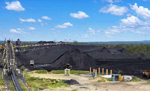 Rio Tinto's Hail Creek Coal mine west of Mackay.
