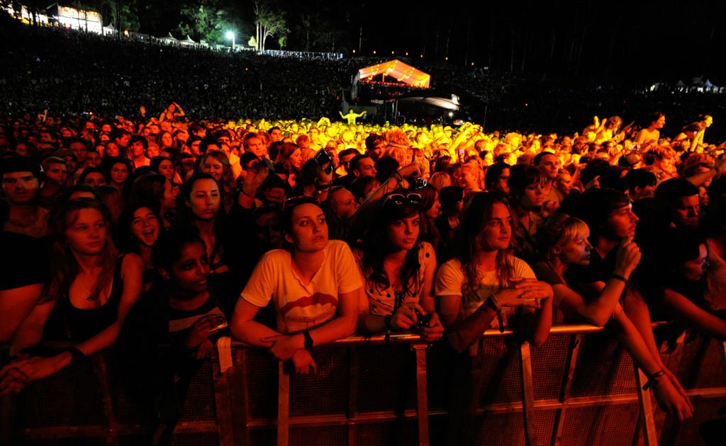 Amphitheatre crowd at the 2010 Splendour in the Grass festival.
