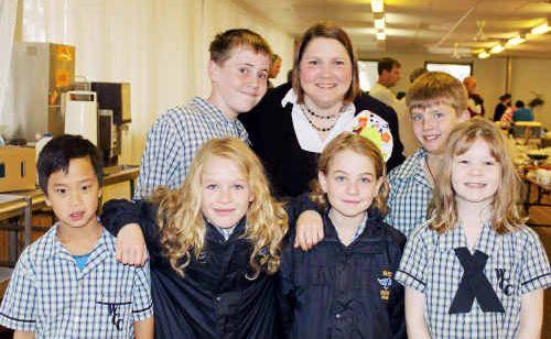 (Back, from left) Cameron Rixon, Moira Coates, Riley Boston, (front) Jack Rayner, Jessie Mayer, Naomi Maye and Hannah Flegerbein.