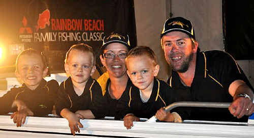 Norman Pavey and his family won a $25,000 boat package at the Mitsubishi Motors Family Fishing Classic.