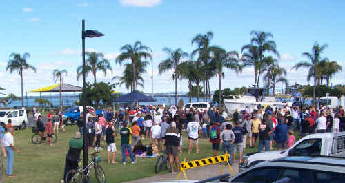 The fishing community united in a protest against proposed no-take zones.