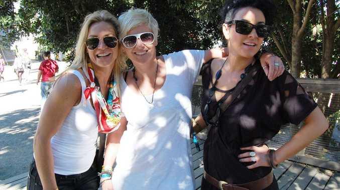 Sunshine Coast locals Elle Clarke, Alissa Dragon and Chelsea Single at Splendour in the Grass.