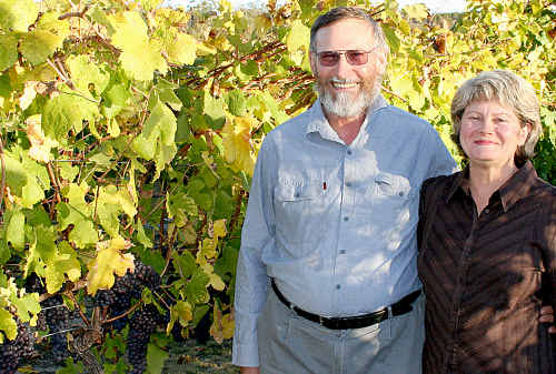 """Peter and Therese Stark from Boireann Winery near Stanthorpe live up to """"grape expectations"""" by receiving their fifth five-star rating in a row from renowned wine critic James Halliday."""