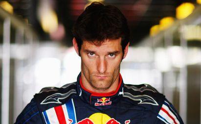 Red Bull Formula 1 driver Mark Webber.