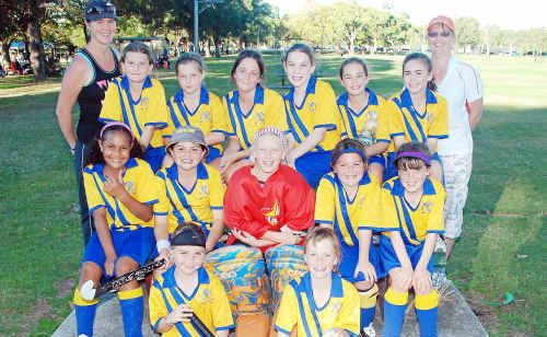 Members of the Gympie girls under-11 representative hockey side are all smiles after taking out Division 2 of the Southern Cross Hockey Carnival. Last year, the side won Division 3.
