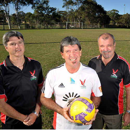 CPSU vice-president Marcel Pitot, senior player Les Kunde and president Chris McCormack have fond memories of the good old days at Arthur Street.