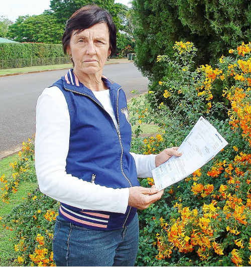 The increase in her farm access lease has left Glenys van der Straat feeling shocked and angry.
