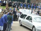 TEARS flowed freely as hundreds of students lined the length of Leycester Street today for their final farewell to Bob Delaney.