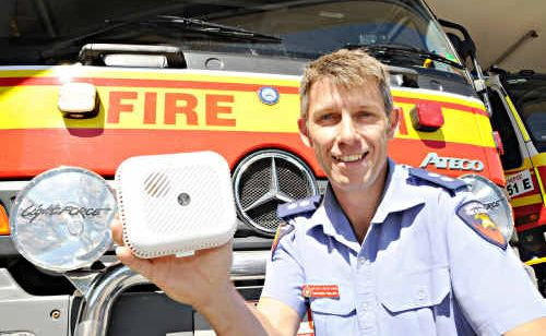 Station Officer Matthew Phillips says QFRS strongly recommends the photoelectric smoke alarms.