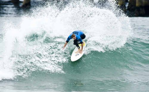 Mountain Creek's Leigh Sedley has been eliminated from the US Open of Surfing in California.