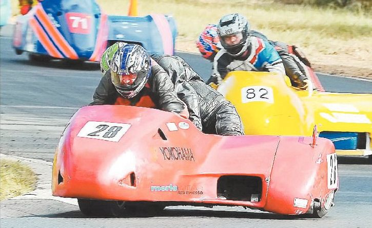 RACING FUN: Nine sidecars will be in action as well as 121 bikes at Morgan Park Raceway this weekend.