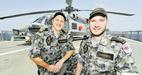 As HMAS Parramatta patrols through the waters of the Gulf of Aden, crew members often have thoughts of home a long way away. Lieutenant Jeremy Richardson and Leading Seaman Cook Jason McDonnell share thoughts of a home common to them both.