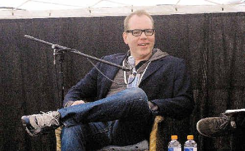 Los Angeles-born author Bret Easton Ellis speaking at the Byron Bay Writers Festival.