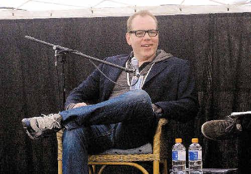 Los Angeles-born author Bret Easton Ellis speaking at the Byron Bay Writers Festival.