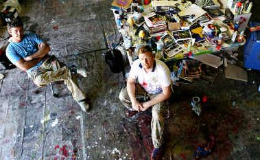 Winning combination: Coast artists Dean Reilly and Shane Bowden are finalists in the Doug Moran National Portrait Prize.