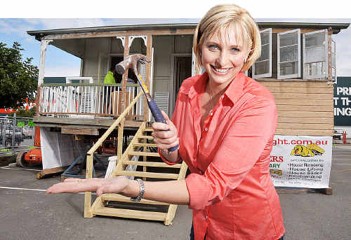 Better Homes and Gardens host Johanna Griggs gets set for Sunday's big auction.