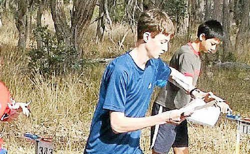 Trent Blinco in action during the Queensland Schools Orienteering Championships.