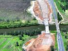 Work progresses on the Pacific Highway upgrade south of Ballina, near the Bruxner Highway turn-off near Emigrant Creek.