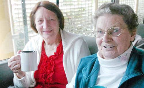Lillian Mason and Norma Jenkins are excited about the Senior's Week morning tea tomorrow.
