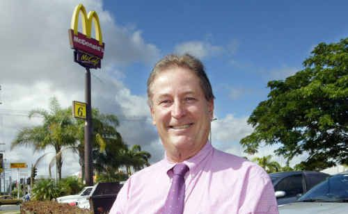 Gary St George has knocked back a chance to take on two new McDonald's stores.