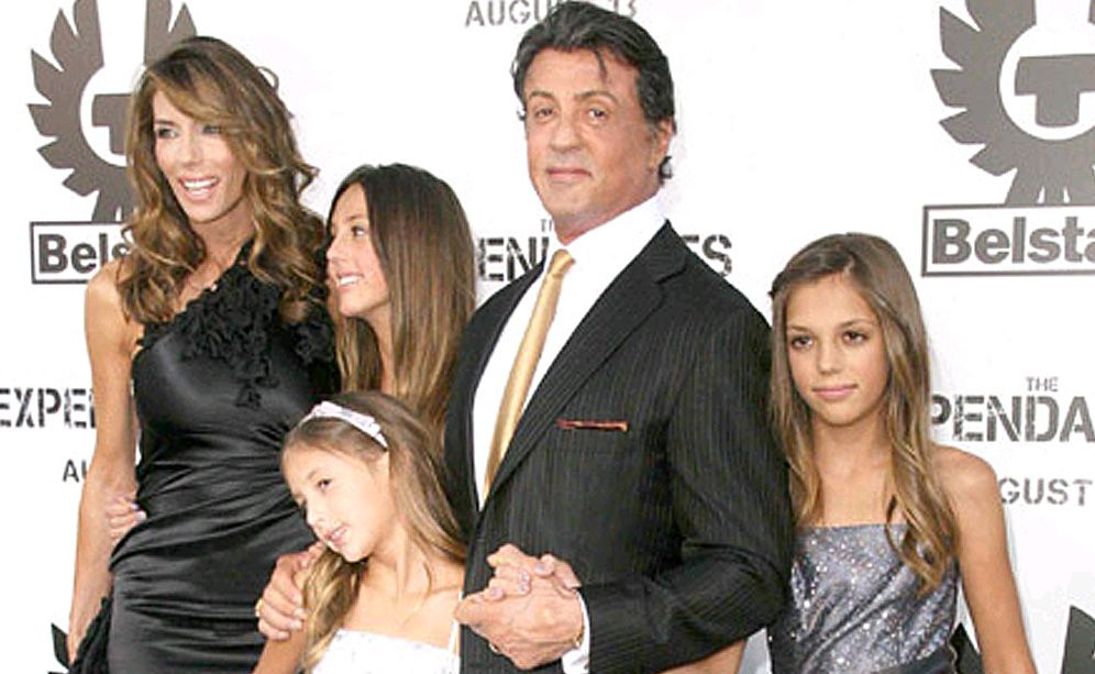 Sylvester Stallone and family.