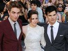 Robert Pattinson, Kristen Stewart and Taylor Lautner.
