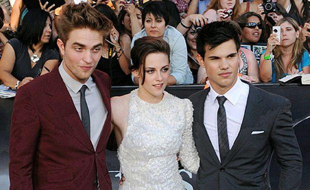 Robert Pattinson, Kristen Stewart and Taylor Lautner.