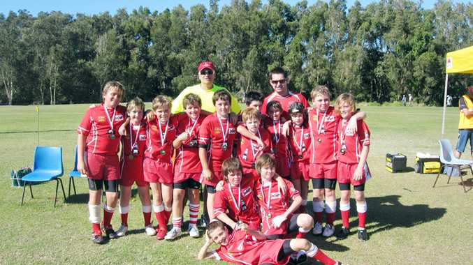 PICTURED are the young Red Devils after the grand final against South Tweed Bears.