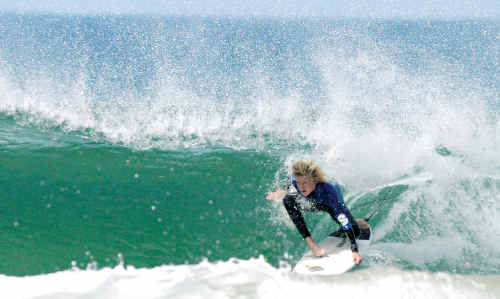 The Sunshine Coast's Harry Bryant proves a standout in easily winning his heat at Coolum yesterday.