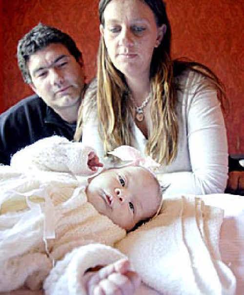 David Eastick and Kassandra Dodd with daughter Shakerah Eastick.