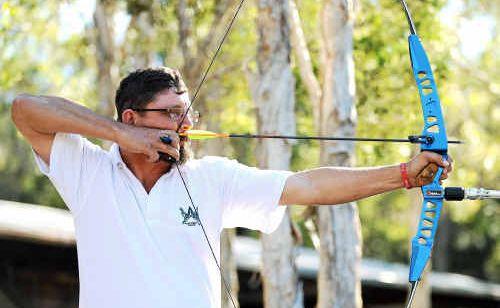 Michael Wondrock of the Saxon Archery Club.