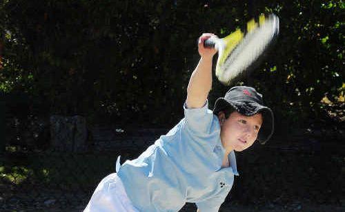 Maryborough's Jun Guilfoyle won the 10-year boys singles' title during the Maryborough Junior Masters tournament.