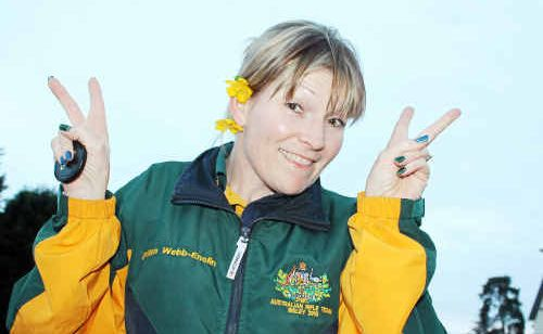 Gillian Webb-Enslin is gunning to make up for Australia's defeat against England in a prestigious rifle shooting tournament.