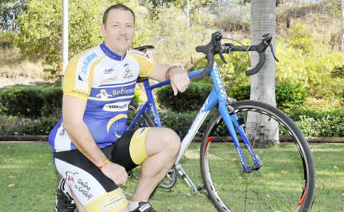 Peter Knight doing the Smile for Smiddy bike ride cancer fundraiser.