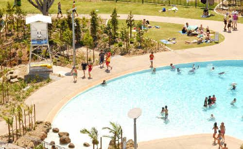 Families can now cool down and enjoy the interactive water play area.