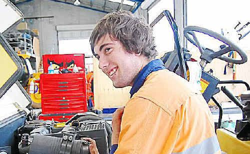 Jacob Sims graduated from the Gladstone Technical College in 2009 and is now pursuing a career as a diesel mechanic.