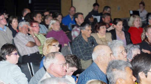 Last night's crowd takes in the Great Dawson Debate at the MECC.