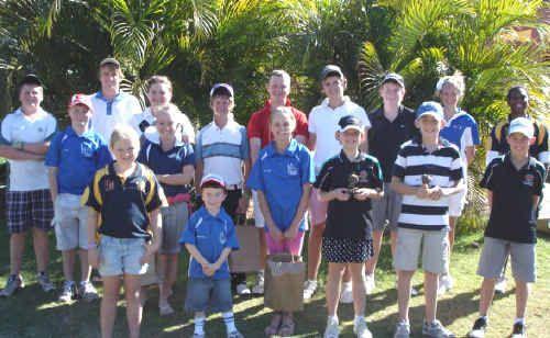 Junior golfers who took part in the Emerald Junior Open.