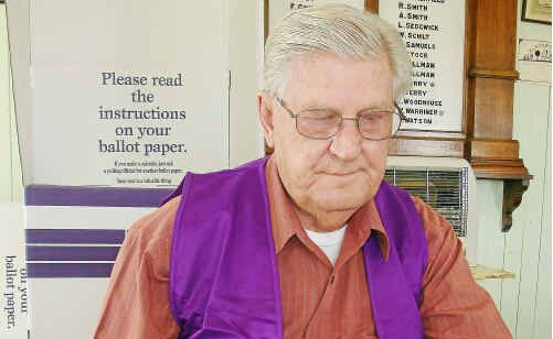 Warwick pensioner Bing Hansen is outraged his fortnightly pension payment will be docked for working as an officer in charge this election day.