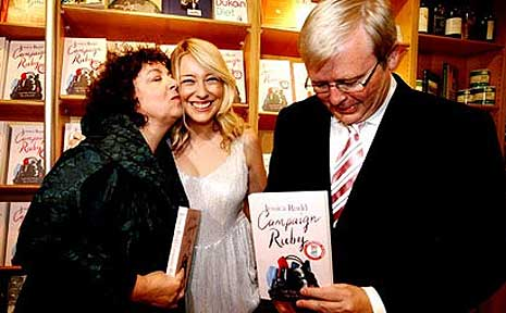 Therese, Jessica and Kevin Rudd at the launch of Campaign Ruby.