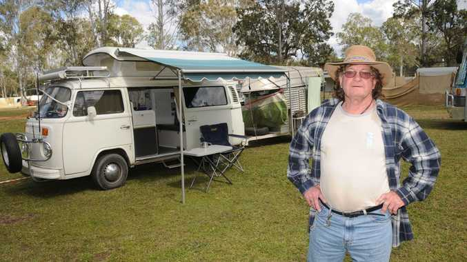 Allan Roden with his 1979 Kombi camper.